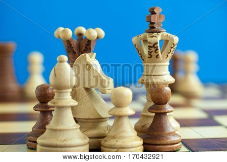 A chess pieces on the chess board
