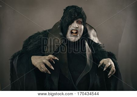 Ancient Horror Mutant Vampire With Large Scary Nails. Medieval Fantasy