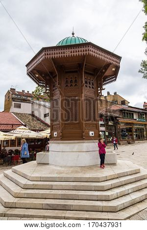 The Sebilj Fountain In Sarajevo