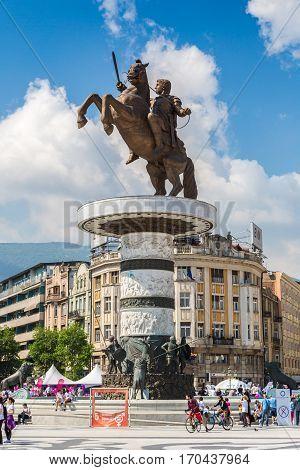 Alexander The Great In Skopje