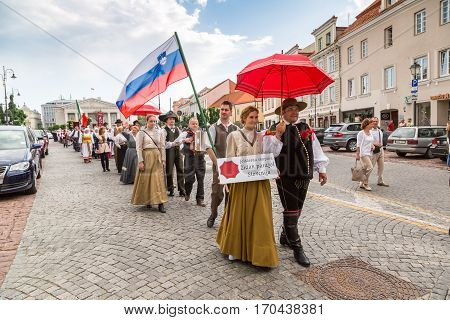 Traditional Parade In Vilnius