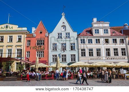 Tallinn Old Town In A Beautiful Summer Day, Estonia