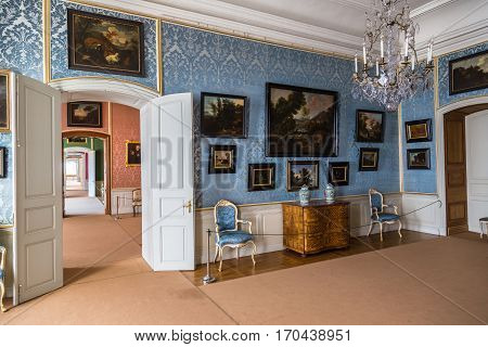 Interior Of Rundale Palace In Latvia