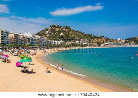 Beach In Blanes In Costa Brava