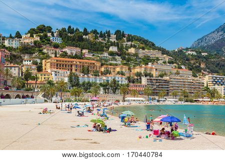 Menton On French Riviera, France
