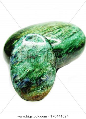 fucsite geological crystal semigem green mineral isolated