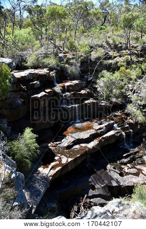 Borrung Falls waterfall in the Grampians region of Victoria Australia