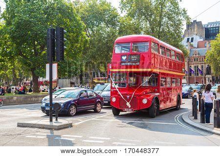 Retro Red Double Decker Bus, London