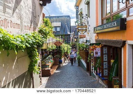 Old Architecture Of Rudesheim, Germany