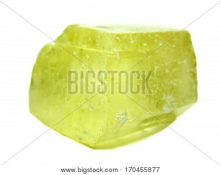yellow calcite semigem crystals geological mineral isolated