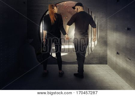 Blockbuster Photo Of Couple Of Thieves Robbed The Bank And Out Of The Warehouse With A Bunch Of Mone