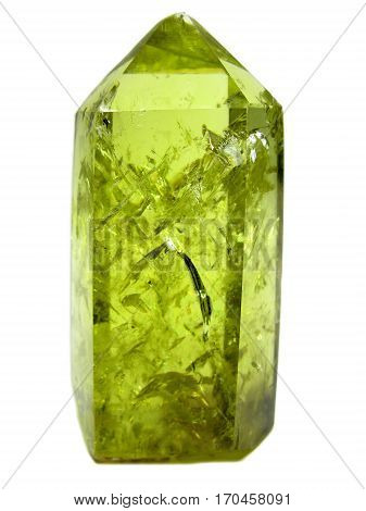 citrine yellow quatrtz semigem natural crystal geological mineral isolated