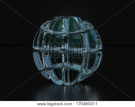 Glass Globe Symbol  3D Illustration