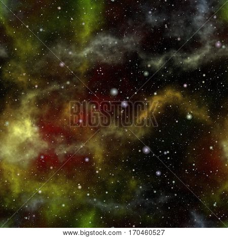 Abstract colorful universe Nebula night starry sky Multicolor outer space Galactic texture background Seamless illustration