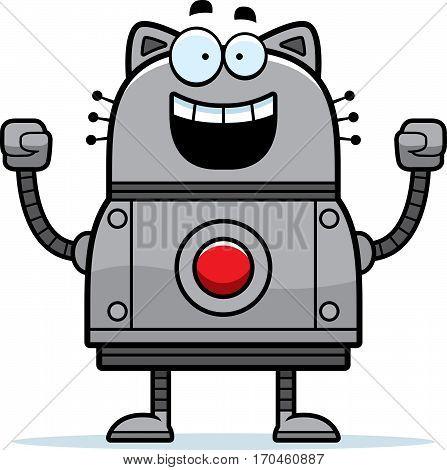 Celebrating Robot Cat