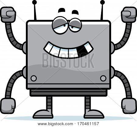 Malfunctioning Square Robot