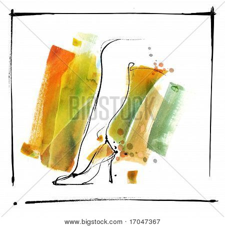 Artistic Stylized Leg of an Attractive Sexy Woman