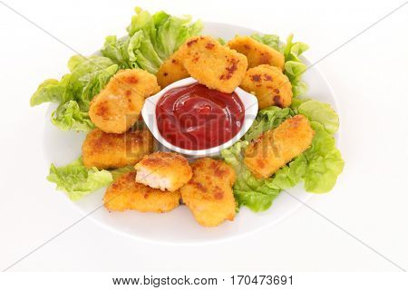 chicken or fish nugget