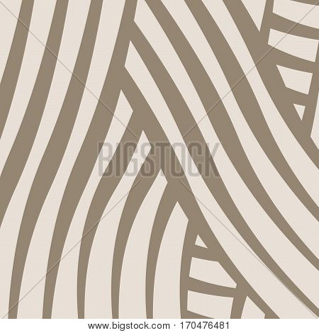 Abstract background with uneven curved lines. Square.