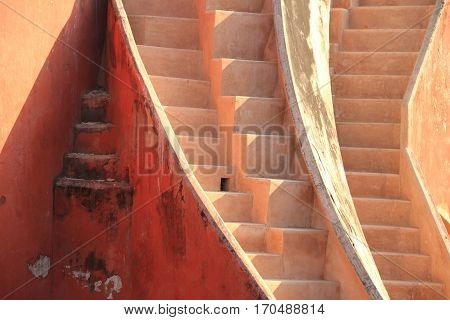 Abstract stairs in Jantar Mantar New Delhi India