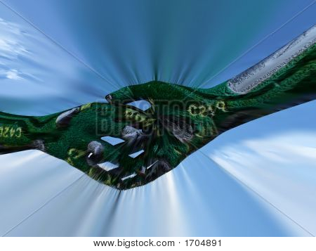Micro Chip Shake Hands