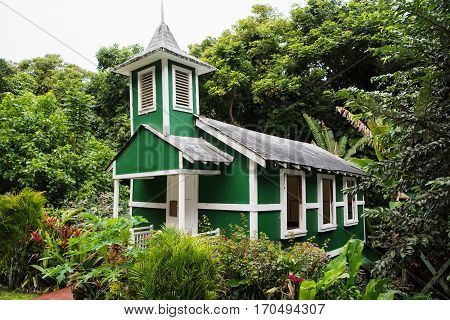 Ierusalema Hou Church in Hālawa Valley Molokai Island Hawaii