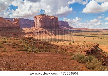 A beautiful view of the Monument valley, Navajo tribal park, UTAH,USA
