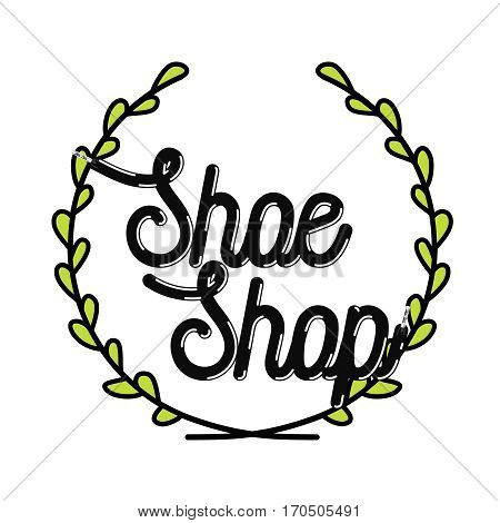 Color vintage shoe shop emblem, label, badge and design elements. Vector illustration, EPS 10