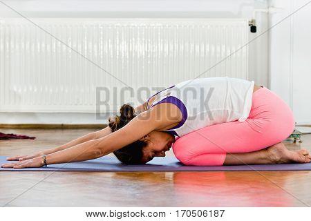 Yoga Balasana Or Childs Pose