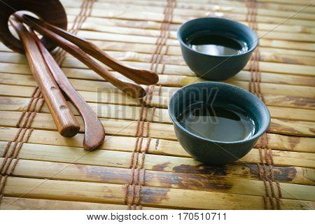 Morning Green Tea. Tea Set