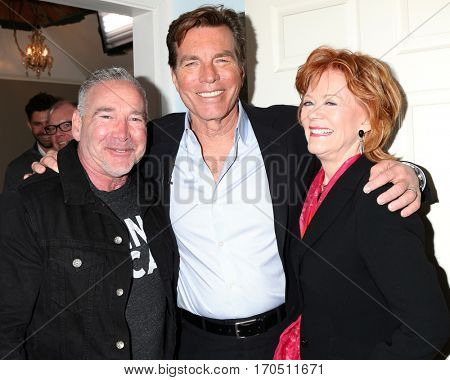 LOS ANGELES - JAN 5:  Michael Fairman, Peter Bergman, Kathleen Noone at the