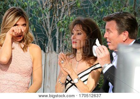 LOS ANGELES - JAN 5:  Debbie Matenopoulos, Susan Lucci, Peter Bergman at the