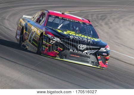 January 31, 2017 - Avondale, Arizona, USA:  Erik Jones (77) takes his Furniture Row Racing Toyota through the turns during a practice at the Phoenix Open Test at Phoenix Raceway in Avondale, Arizona.
