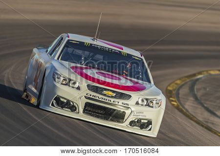 January 31, 2017 - Avondale, Arizona, USA:  Kyle Larson take his Chip Ganassi Racing Chevrolet through the turns during a practice at the Phoenix Test at Phoenix International Raceway in Avondale, AZ.