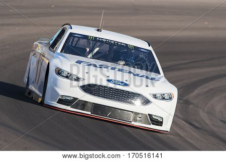 January 31, 2017 - Avondale, Arizona, USA:  Ricky Stenhouse, Jr. takes his Fastenal Ford Fusion through the turns during a practice at the Phoenix Open Test at Phoenix Raceway in Avondale, Arizona.