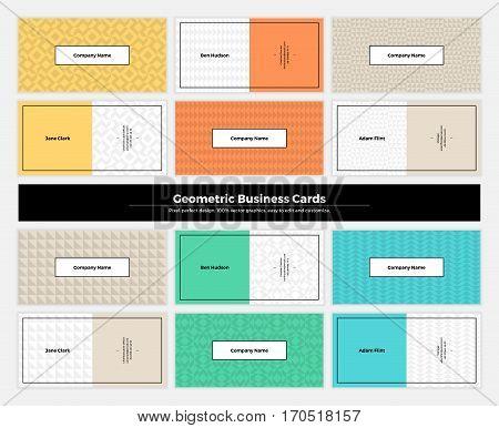 Geometric Business Cards 001