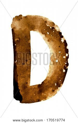 Letter D -- alphabet in coffee