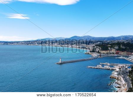The Côte d'Azur - French Riviera Bay, Nice, France