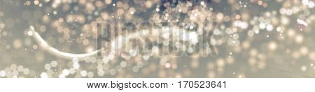 Elegant Abstract Background With Bokeh Defocused Lights.