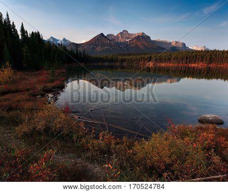 Various Lake Scene in Banff Alberta Canada