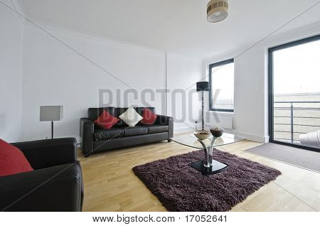 modern luxury living room furnished and decorated