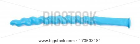 Unblown shaped balloon isolated over the white background
