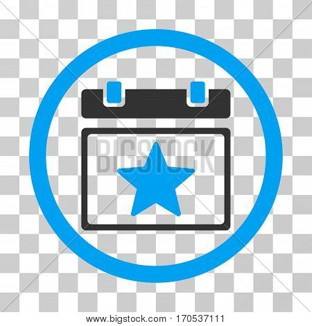 Favourites Day rounded icon. Vector bicolor illustration style is a flat iconic symbol inside a circle blue and gray colors transparent background. Designed for web and software interfaces.