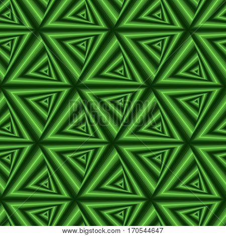 Seamless Pattern With Green Triangle Forms