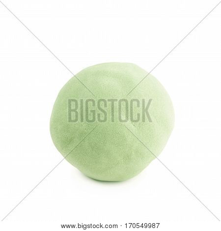 Ball sphere made of kinetic sand toy, isolated over the white background
