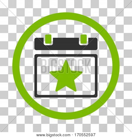 Favourites Day rounded icon. Vector bicolor illustration style is a flat iconic symbol inside a circle eco green and gray colors transparent background. Designed for web and software interfaces.