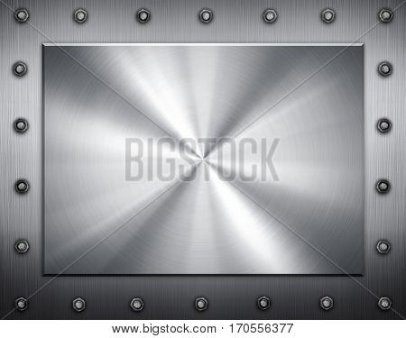 silver iron plate with frame background