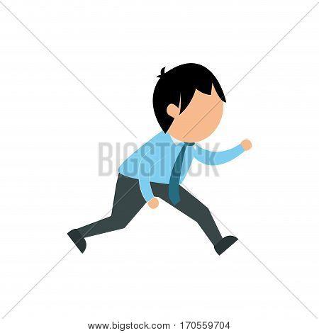 Businessman entrepreneur cartoon icon vector illustration graphic design