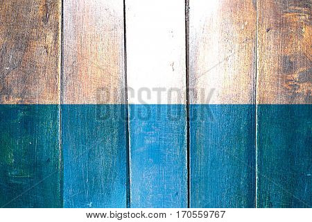 Vintage Bavaria, bayern flag on grunge wooden panel