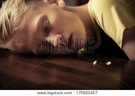Young Teenage Boy Drug Addict